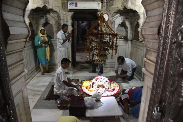 This is the only temple in Delhi where the deity Yogmaya is worshipped.