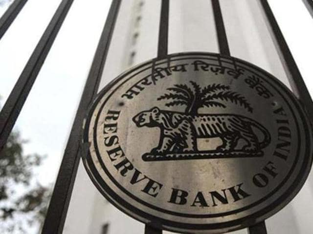 The facade of the Reserve Bank of India (RBI) head office is pictured in Mumbai.