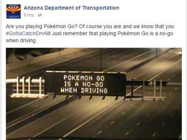 In the face of reports of car accidents due to gaming sensation Pokemon Go, several Road Transport Authorities in the US have developed a new driving advisory campaign.