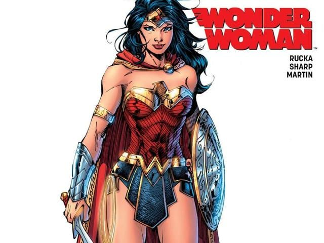 Convention exclusive variant of Wonder Woman #1, cover art by Jim Lee.