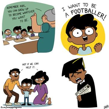 A Satirical Web Comic On Things That Happen Only In India Art