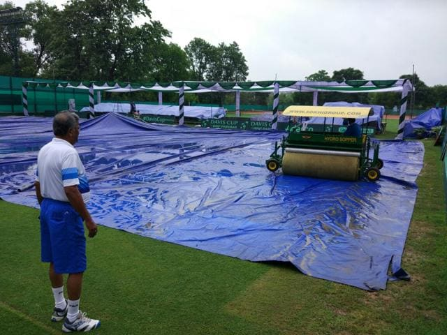 Experts from South Club, Kolkata, have been roped in to prepare the court is a way to suit India. The rains have spoilt most of that work.