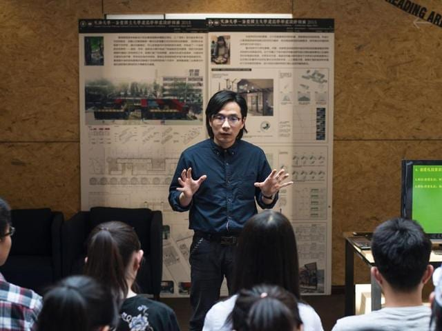 """A teacher at Tianjin University, Xie Shu's """"Theory and Practice of Romantic Relations"""" course at Tianjin University includes lectures on pick-up techniques, self-presentation and how to entice the opposite sex."""