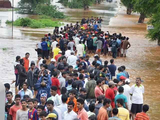 A flooded locality at Chiplun
