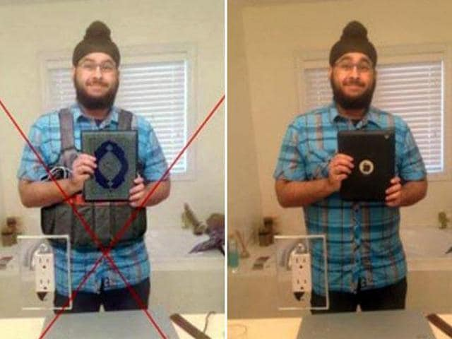 The image of Veerender Jubbal, which was changed to show him holding a Quran and what appeared to be a suicide vest, spread quickly in the wake of the Paris carnage last November.
