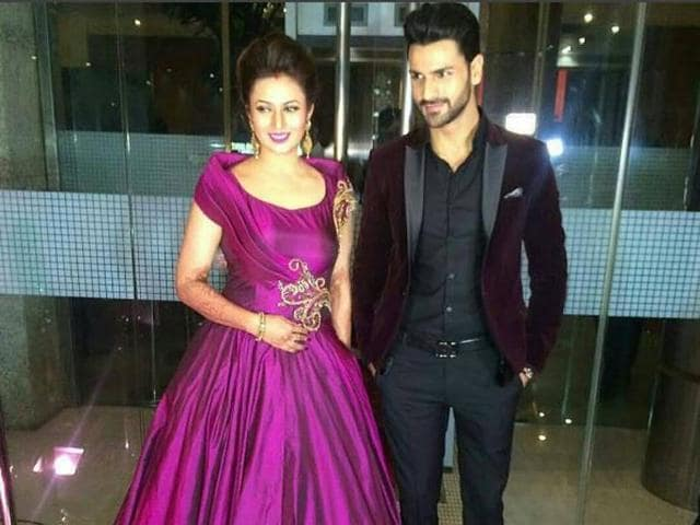 TV actors and newly-weds, Divyanka Tripathi and Vivek Dahiya, held a wedding reception for her industry fans in Mumbai on Thursday.