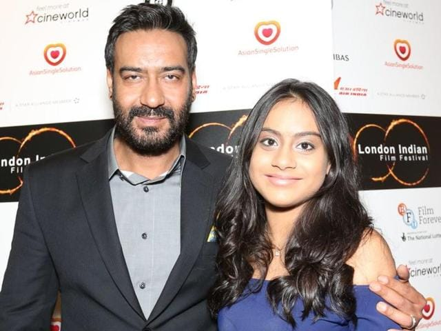 Bollywood actor-filmmaker Ajay Devgn and his daughter Nysa walked hand-in-hand on the red carpet of London Indian Film Festival