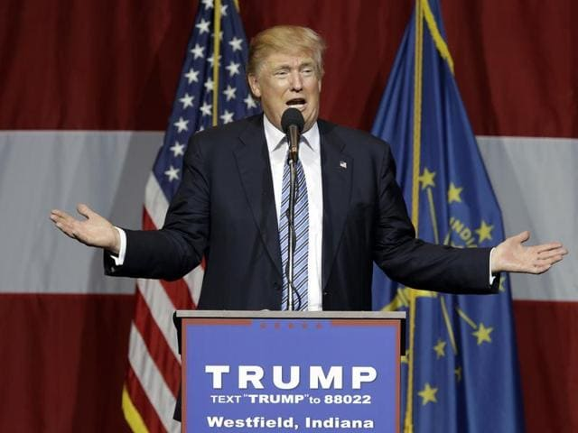 In this file photo, Republican presidential candidate Donald Trump speaks at a rally in Westfield.