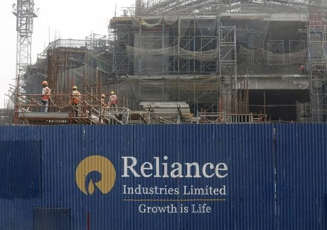 A Reliance Industries Ltd construction site in Mumbai