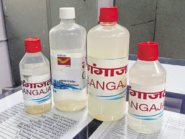 Gangajal bottles being sold at post offices.