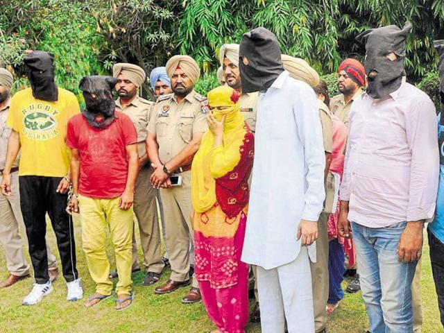 Accused in police custody in Patiala on Thursday.