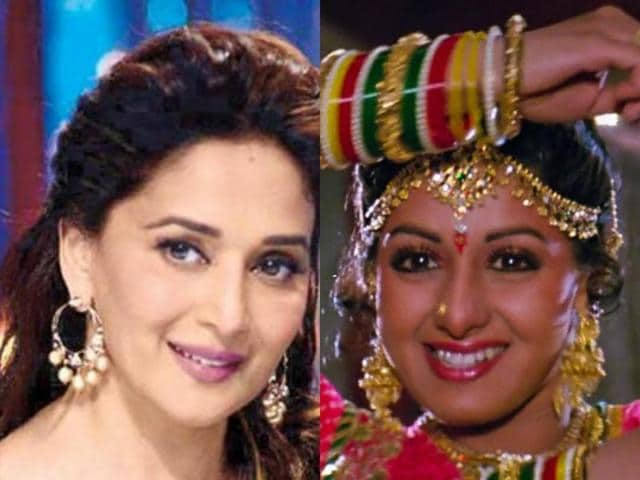 At the grand finale of her dance show, So You Think You Can Dance, Madhuri Dixit will perform on Sridevi's famous song Mere Haathon Mein.