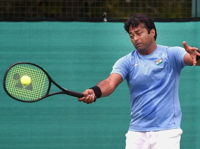 Leander Paes  is one of those guys like Andre Agassi who are able to pick up the ball that split second quicker than everybody else.