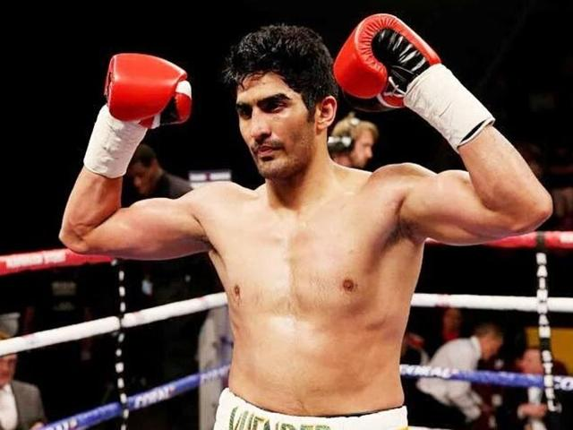 Indian professional boxer Vijender Sngh beat Australia's Kerry Hope to win the WBO Asia-Pacific Middleweight championship on July 16, 2016.