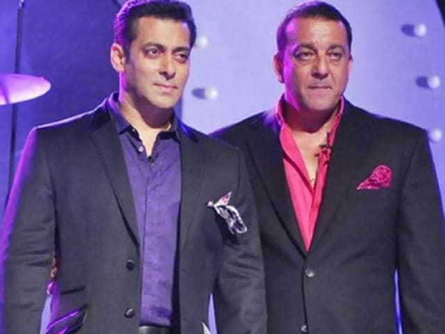 It was reported that everything is not well between Salman and Sanjay. (IANS Photo)