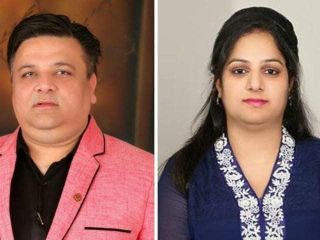 Dr Vishal Bhanot and Dr Ramandeep Kaur, the accused.