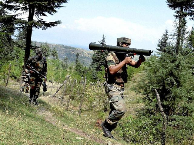 Security forces gunned down three suspected militants along the Line of Control in Jammu and Kashmir's Poonch district.