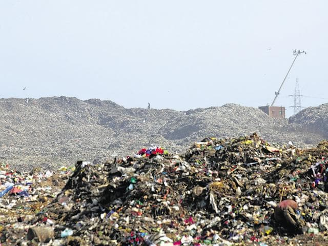 The dumping ground regularly reports fires, often started by errant contractors and the scrap mafia trying to separate iron, copper and other metals from the garbage.