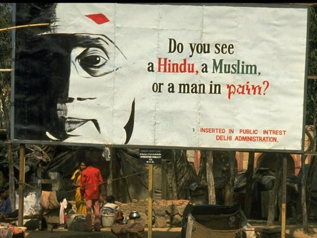 A billboard put up in public interest in the 1990s.