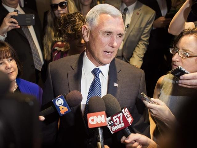 Donald Trump,Mike Pence,US presidential race