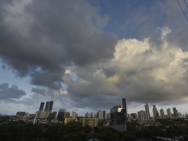 Mumbai, India - March 3, 2016 : Dramatic clouds in the sky at Bandra in Mumbai, India, on Thursday, March 3, 2016. (Photo by Satish Bate/ Hindustan Times)