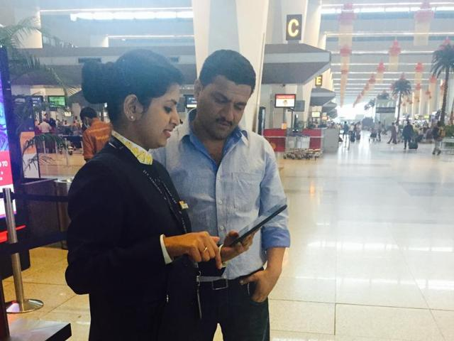 The hand-held gadgets will act as portable check-in counters, which will save passengers the trouble of standing in queues to get to traditional counters.
