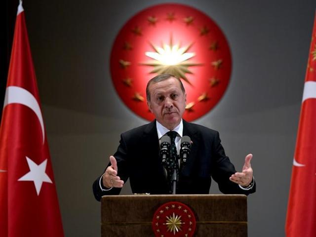 Turkish President Tayyip Erdogan makes a speech during an iftar event in Ankara, Turkey, June 29, 2016. Picture taken June 29, 2016.