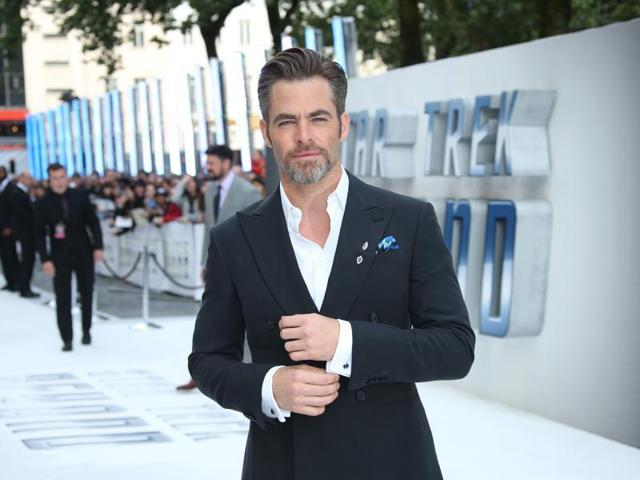 Chris Pine arrives at the Star Trek Beyond premiere in London.