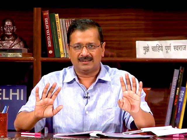 """Delhi chief minister Arvind Kejriwal took questions from public during an interactive session """"Talk to AK""""."""