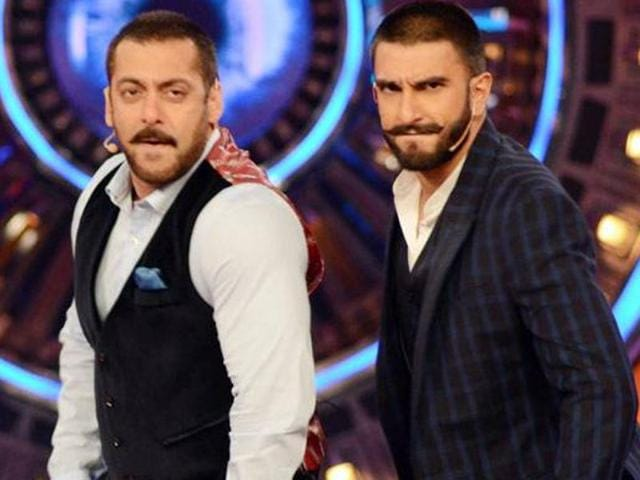 Salman Khan and Ranveer Singh on Bigg Boss 9.