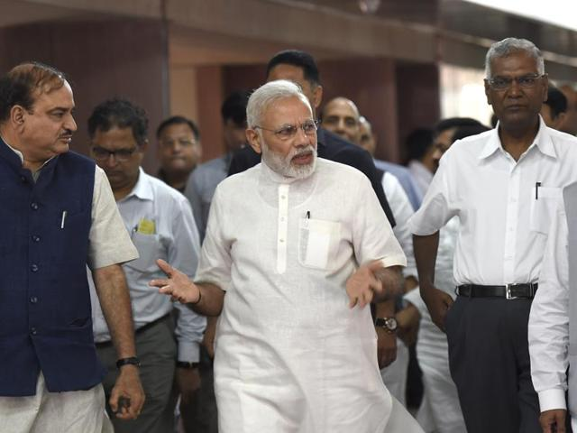 At Sunday's meeting, sources said, Prime Minister Narendra Modi sought the support of parties on the goods and services tax bill.