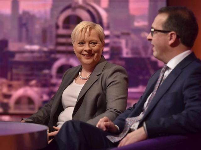 Owen Smith (Right) and Angela Eagle, candidates vying to lead Britain's opposition Labour Party, are seen speaking on the BBC's Andrew Marr Show on Sunday.