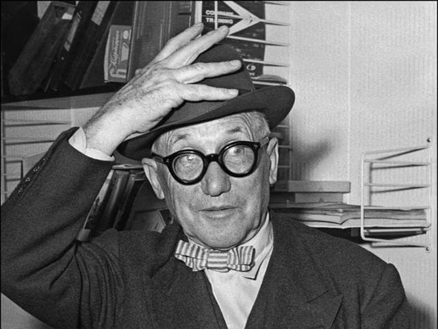 This undated file photo shows Swiss-French architect Charles Edouard Jeanneret, also known as Le Corbusier arriving for a function in Corbeil-Essonnes.