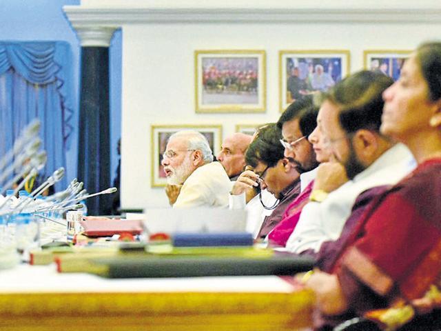 Prime Minister Narendra Modi at the 11th Inter-State Council Meeting in New Delhi on Saturday.