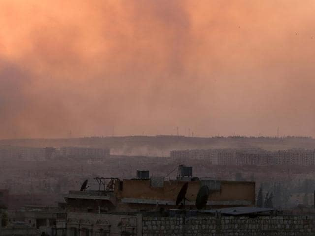 The boy was captured north of Syria's second city Aleppo, a monitor said.