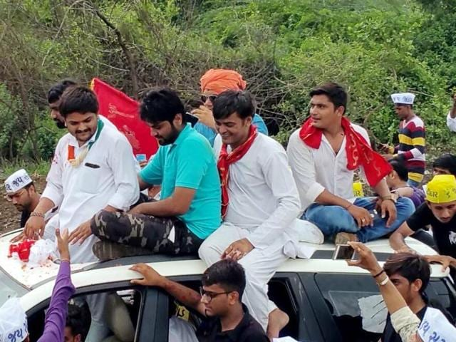 Hardik Patel, who was arrested on charges of sedition, was released from Lajpore Central Jail in Surat on July 15, 2016.