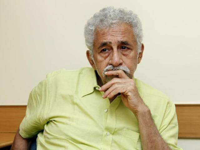 Actor Naseeruddin Shah feels acting schools are nothing but money minting machines. (Waseem Gashroo/HT Photo)