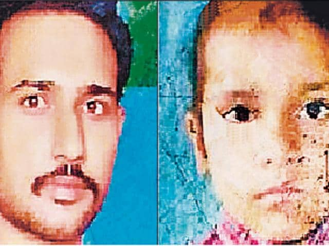 Rajbir Singh and his daughter Harshpreet Kaur (8).