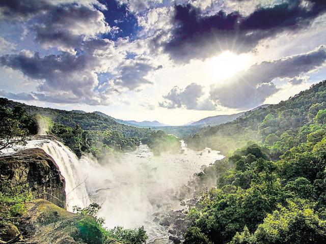 The Athirappilly waterfall could eventually fall off the map thanks to an ambitious power project.(File Photo)