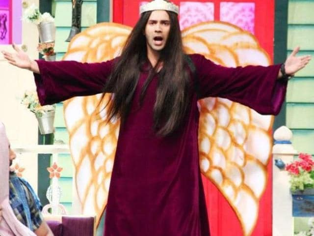 Varun decided to dress up as Pakistani singer Taher Shah for a skit. The resemblance is uncanny.