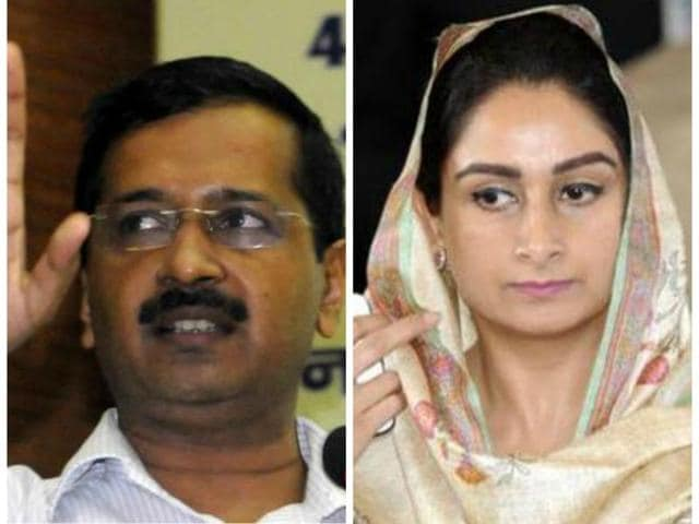 """Terming Kejriwal's regime as a """"failure"""", she said """"He is a totally failure in Delhi. I have never seen CM of a state going to another state to make a government over there and not serving the people of his state."""""""
