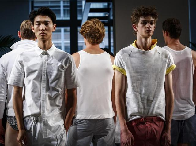Creations by Katama during the New York Fashion Week Men's Spring/Fall 2017.