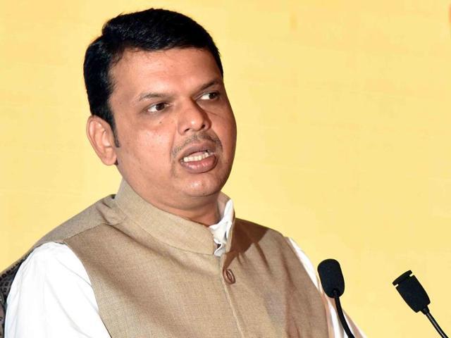File photo of Maharashtra chief minister Devendra Fadnavis at BKC in Mumbai.