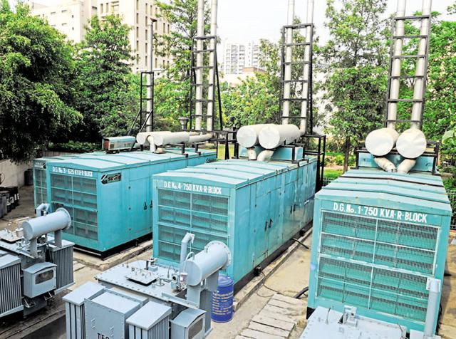 According to official figures, nearly 20% of the city's electricity load is borne by diesel gensets.
