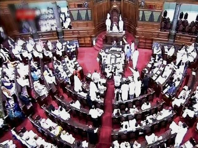 A view of the Rajya Sabha on the opening day of the monsoon session in New Delhi.