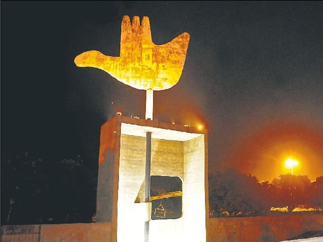 "The Open Hand was lit up on Monday. The locals have been infrequent visitors to the complex, something that the heritage status to the city should help change. UT home secretary Anurag Agarwal said, ""We have decided to light up the buildings for 15 days."""