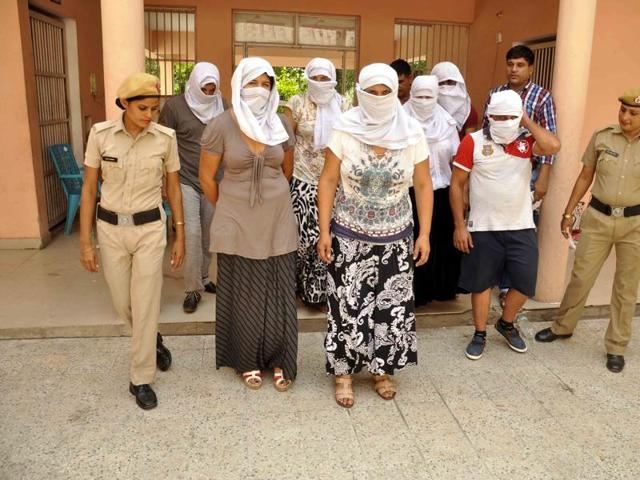 A gang of suspected Romanian nationals allegedly involved in thefts across the country was busted in Faridabad on Tuesday. The suspects, three men and four women, were operating from a Paharganj hotel in New Delhi.