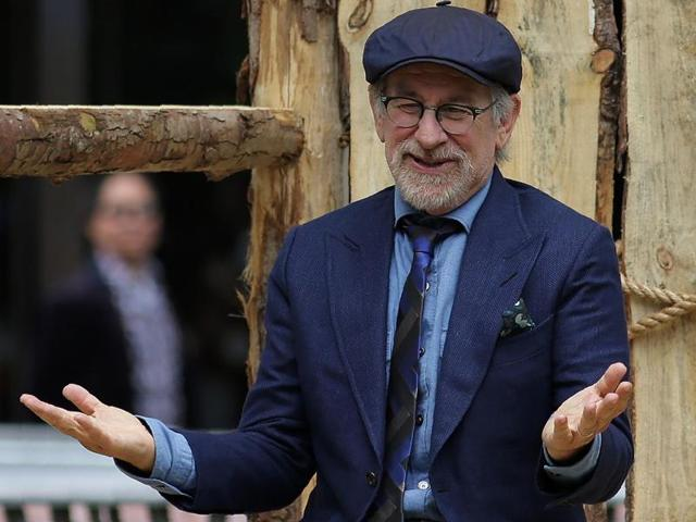 Director Steven Spielberg poses for photographers upon his arrival for the premiere of the film The BFG.