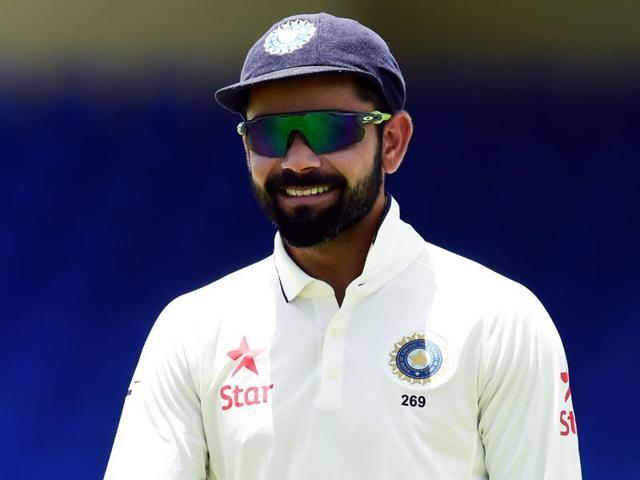 Indian cricket team captain Virat Kohli watches his teammates during the three-day tour match.