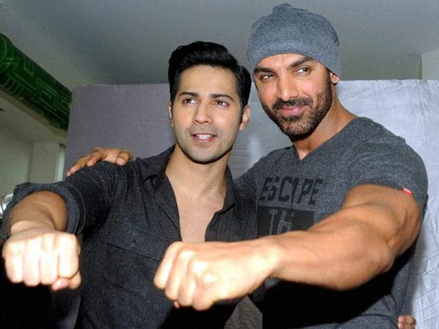 For Varun, John's presence was a boon as it made him confident about doing action sequences.